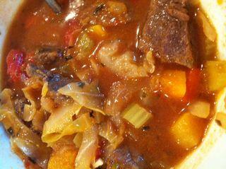Beef veg soup